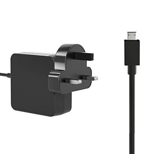 HotTopStar 24W AC Wall Charger Power charge for ASUS Chromebook C201 C201P 12V 2A Square Tip Adapter for Chromebook Flip C100 C100P with Cable