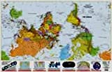 What's Up? South! 36x56 inch; laminated map