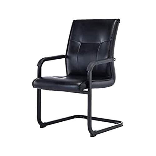 DJDLLZY Silla de oficina con forma de arco para computadora y escritorio, silla de conferencia, color negro