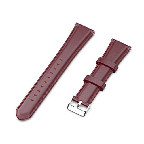 NICERIO Compatível com pulseira de couro para relógio Fossil Gen 4 Pulseira de substituição de liberação rápida 22 mm, Claret, 12 * 2.2cm