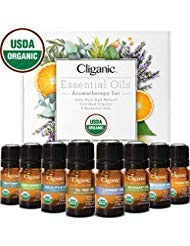 Organic Aromatherapy Essential Oils Set (Top 8), 100% Pure and Natural.