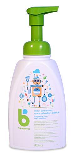 Babyganics Foaming Dish and Bottle Soap, Fragrance Free, 473ml
