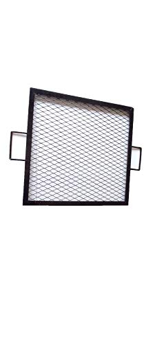 Simond Store 36' Square Cooking Grate X Marks Heavy-Duty Steel Square Fire Pit Grill
