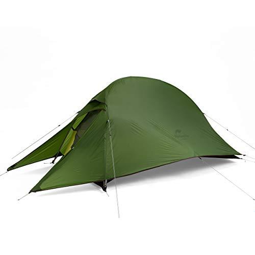 Naturehike Cloud up 1 Person Rucksack Zelt Ultraleichtes Camping Wander Kuppelzelt (20D Waldgrün)