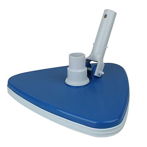Linxor France ® Tête de balai aspirant triangulaire bleu pour manche standard ou télescopique - Norme CE