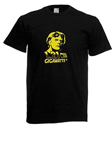 T-Shirt - Doc Brown Zurück in die Zukunft (Schwarz, XL)