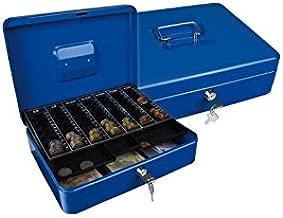 Schwarz Runde Legierung Geldautomat Halter Display Aufbewahrungsbox Sammeln Andenken Brieftasche Glowjoy M/ünzenkoffer f/ür Euro M/ünzen