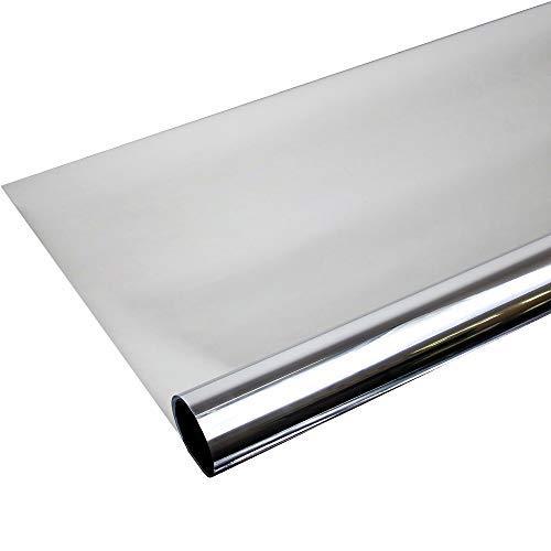 TipTopCarbon 6,57€/m² Fenster Spiegelfolie 500 x 152cm Silber Tönungsfolie Sonnenschutz Fensterfolie Spion Folie Hitzeschutzfolie