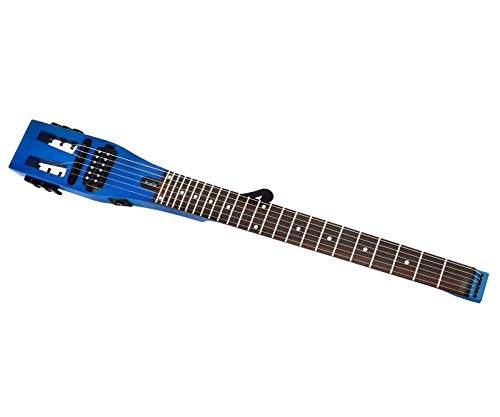 Anygig AGESE E-Gitarre, Saiten 010~046, Reise-Gitarre, Mattblau, mit Aufbewahrungstasche