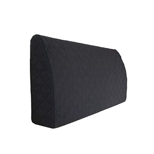 Sabeatex® Rückenlehne für Bett, Sofakissen, Rückenkissen für Lounge-oder Palettenmöbel in 5 trendigen Farben. Länge 90 cm, Höhe 45 cm Farbe: (Schwarz)