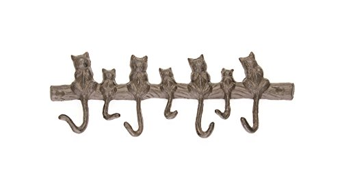 """7 Cats Cast Iron Wall Hanger 