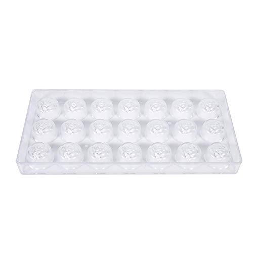 Chocoladevorm, handgemaakte heldere kunststof doe-het-zelf rozenbloem gevormde snoepjes maken vormen, DIY mold cookie tray, polycarbonaat chocoladevorm