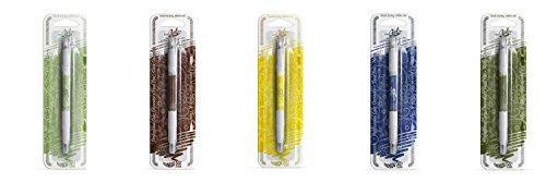 Pack de 5 bolígrafos comestibles de Rainbow Dust,100% comestible de doble punta, gruesa y fina (Chocolate oscuro, amarillo, azul marino, verde oscuro y verde hoja)