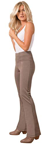 Simply Noelle Ponte Slack Pant in Taupe, L/XL