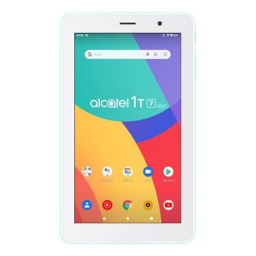 """Alcatel 1T 7 WIFI (2021) - Tablet 7"""", Quadcore, 1GB de RAM, Memoria de 16GB ampliable por MicroSD de hasta 128GB, 2580 mAh de Batería, Android 10 (Go Edition), Verde"""
