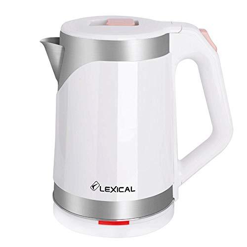 Bouilloire Electriques Inox 1,8L Bouilloire Eau Sans BPA Garder au Chaud Paroi Double avec Protection Contre L'ébullition à Sec 2200W Arrêt automatique,boulloire sans fil,kettle,White