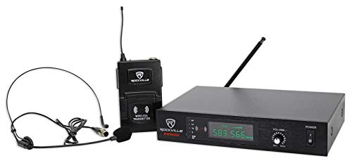 Rockville Professional UHF Headset & Guitar Wireless Microphone System, Single (RWM60U)