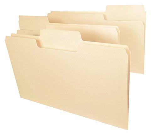 Smead SuperTab File Folder, Oversized 1/3-Cut Tab, Legal Size, Manila, 100 Per Box (15301)