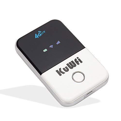 Mobile Router Hotspot Portatile, KuWFi Router Wi-Fi 4G LTE da viaggio portatile da 150 Mbps, hotspot Wi-Fi mobile con slot per SIM