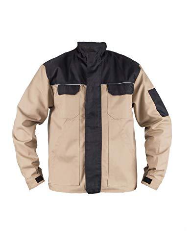 TMG® Herren Arbeitsjacke Bundjacke - leichte Jacke für die Arbeit für Schreiner - Khaki - XL