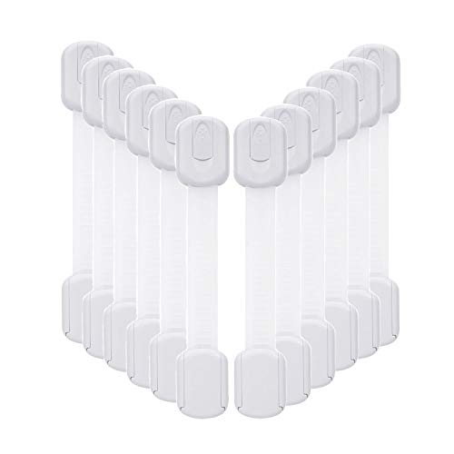 12 Pack Baby Proofing Cabinet Strap Locks –...