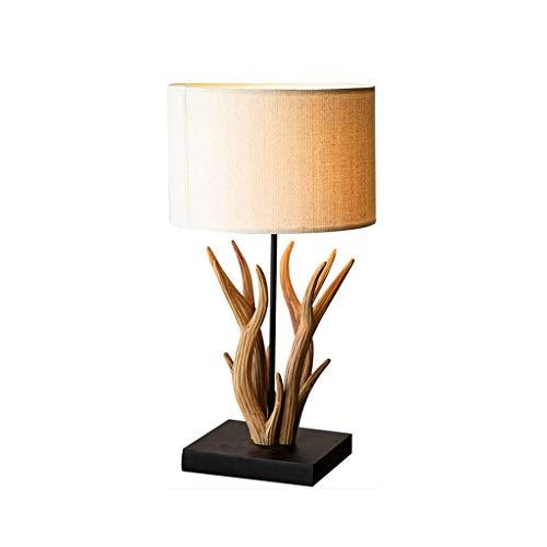 SPNEC Moderna Minimalista Nórdico Caliente Lámpara De Mesa Lámpara De Cabecera del Dormitorio Creativo Luz De La Noche De La Lámpara De Madera Maciza