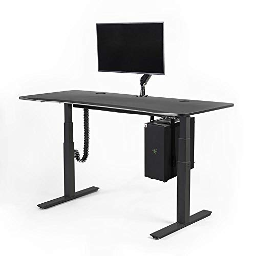 Mojo Gamer Pro - Adjustable Height Standing Desk for PC Gaming Esports with Monitor Arm, CPU Hanger and Cable Management