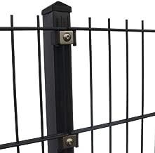 125 cm PfostenStabmatten Zaun 10-50 m Einstabmattenzaun RAL 7016 inkl