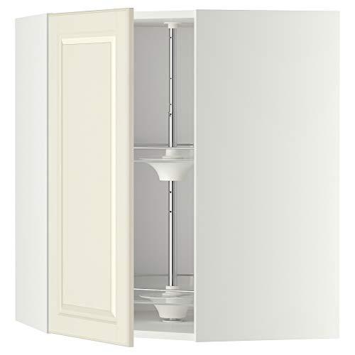 METOD hörnväggskåp med karusell 67,5 x 67,5 x 80 cm vit/Bodbyn off-white