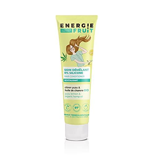 ENERGIE FRUIT   Soin Démélant avec ou sans rinçage   Sans silicone   Citron Yuzu & Chanvre BIO   Cheveux Ternes   Vegan   150 ml