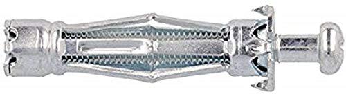 Molly m14204-xj Dübel Plätzchendose Expansion mit Schrauben M4Ø 4x 46mm, grau, Set, 5-teilig