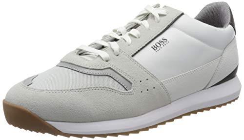 BOSS Herren Sonic_Runn_ltmx Sneaker, Weiß (White 100), 41 EU