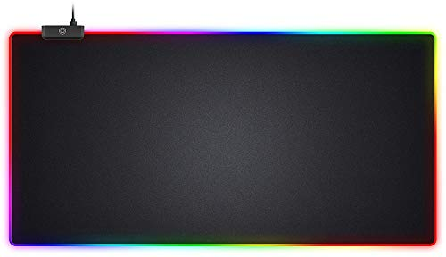 Sentry RGB Jumbo Gaming Mouse Pad One Size Black