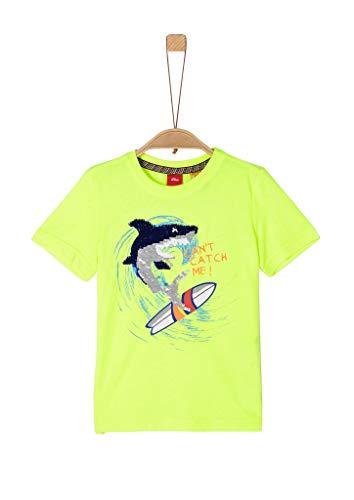 s.Oliver Junior Jungen 404.10.005.12.130.2038794 T-Shirt, 0071 neon Yellow, 116/122/REG