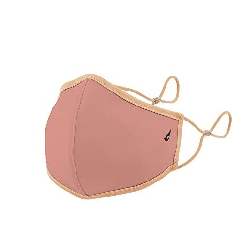 Abbacino mascarilla homologada y lavable para adulto color rosa con ajuste nasal