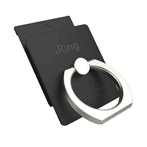 AAUXX アイリング リンク ワイヤレス充電 対応 落下防止 スマートフォン タブレット (ブラック)
