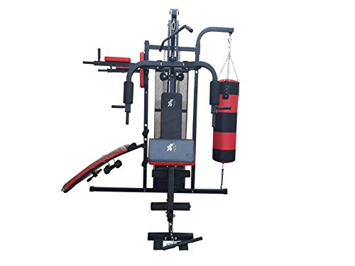 FIT4HOME Unisex Professional Home Gym, Black/Red