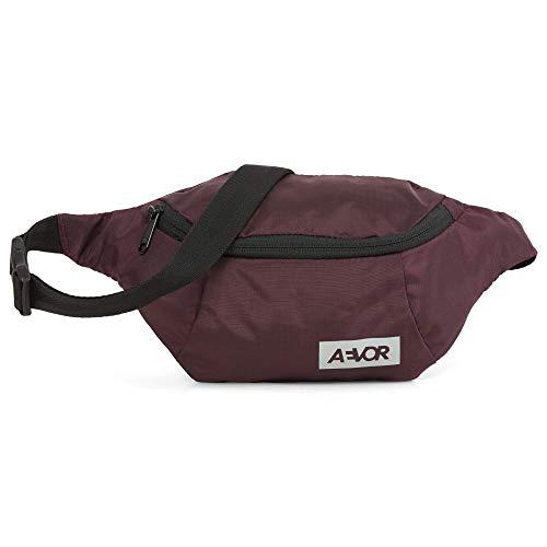 AEVOR Hip Bag - Smartphone Schnellzugriff, 2 Wege Zipper, 1l Volumen, wasserabweisend, Mesh-Innentasche, größenverstellbarer Gurt, Ripstop Ruby