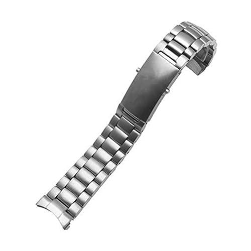 Hombres 18 mm, 20 mm, 22 mm Accesorio de reloj Correa de acero inoxidable para liberación rápida Correa deportiva Pulsera Correa Pulsera (Color de la correa: 5 cuentas plateadas, Ancho de la corr