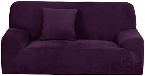 Best uxcell Velvet Plush Sofa Cover Loveseat Couch Slipcover, Machine Washable, Stylish Furniture Protect