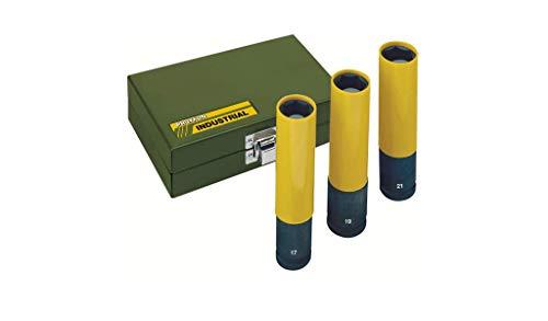 Proxxon 23972 Steckschlüsseleinsatz IMPACT, extralang zum Einsatz mit Druckluftschraubern, extreme Verschleißfestigkeit, 1/2 Zoll, Länge: 130 mm, Durchmesser 17 mm, Drehmoment: 500 Nm