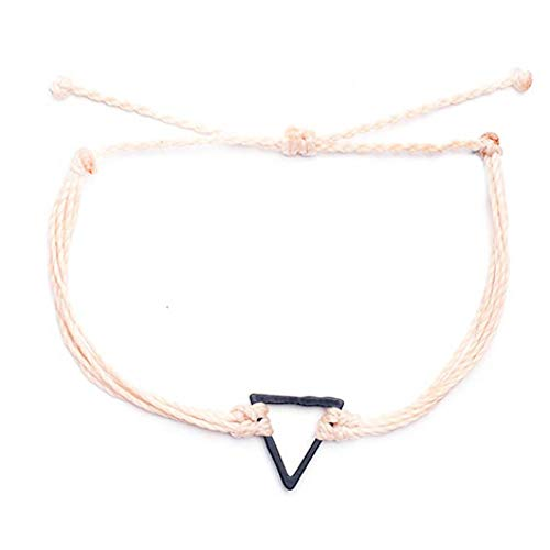 DMUEZW Armbänder für Frauen New Punk Handmade Leaves Armband Femme Parfums Schmuck Waxed Rope Triangle Charms Bracelet