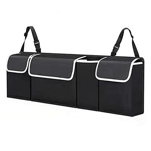 Bolsas de arranque del coche Bolsa de almacenamiento de coches Organizador de troncales de alta capacidad Caja ajustable Backseat 4 Bag Multi-use Oxford Asiento Atrás Organizadores Accesorios de autom