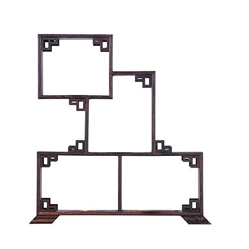 Yangliu Hölzerner Becherhalter Kleine Multifunktionale Retro-Desktop-teetasse Antike Sammlerstücke Pflanzenlager Display Rack,D
