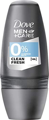 Dove Men + Care Clean Fresh 0% Aluminiumsalze, Roll-On, 6er Pack (6 x 50 ml)