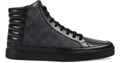 Gucci Herren GG Supreme Canvas High Top Sneaker, Nero (Schwarz) 433717, Schwarz (Nero (Schwarz)), 46.5 EU