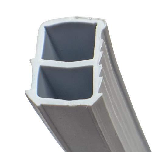 Stahlzargendichtung I 5m I Farbe Grau ► Dichtung Türe ► Zimmertürdichtung ► Ersatzdichtung für eine 10mm Nutbreite ► Langlebig und wartungsfrei