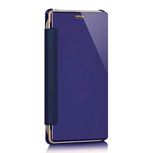 Surakey Specchio Cover Compatibile con Samsung Galaxy J3/J3 2016 Flip Libro Protettiva Custodia in Pelle e Plastica Lusso Semi-Trasparente Clear View Hard Case Ultra Sottile Portafoglio Cover,Viola