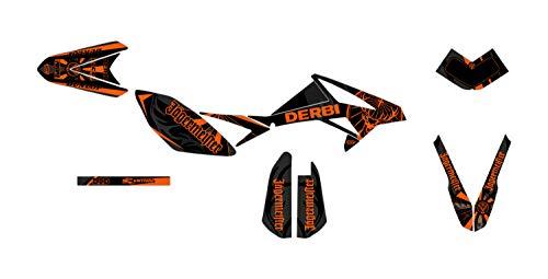 Deko-Set für Motorrad Enduro Beta RR 50 Transtor Orange 2011 bis 2020