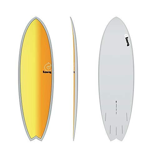 TORQ Tabla de surf Epoxy TET 5.11 Fish Full Fade
